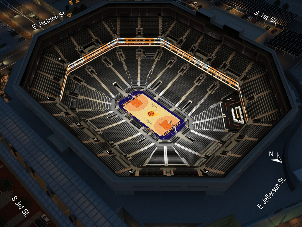Phoenix Suns Virtual Venue By IOMEDIA - Us airways arena seat map