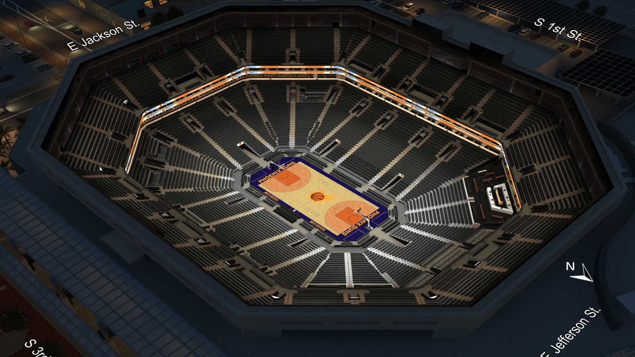 Phoenix Suns Seating Chart 3d Seating Charts Talking